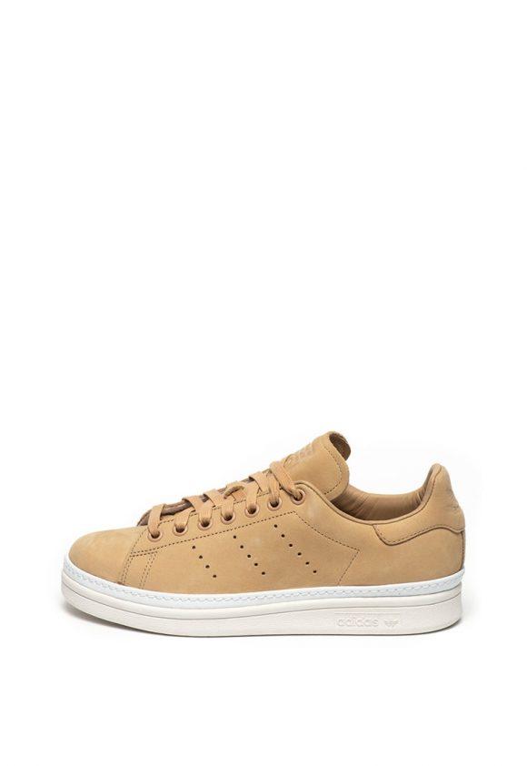 Pantofi sport cu garnituri de piele nabuc Stan Smith New Bold-tenisi-Adidas ORIGINALS