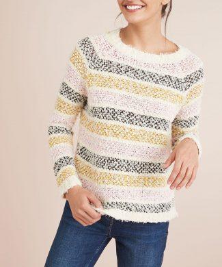Pulover tricotat - cu dungi-tricotaje-NEXT