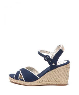 Sandale tip espadrile cu talpa wedge Shark-sandale-Pepe Jeans London