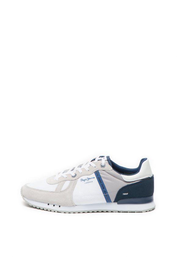 Pantofi sport cu garnituri de piele intoarsa Tinker-tenisi-Pepe Jeans London