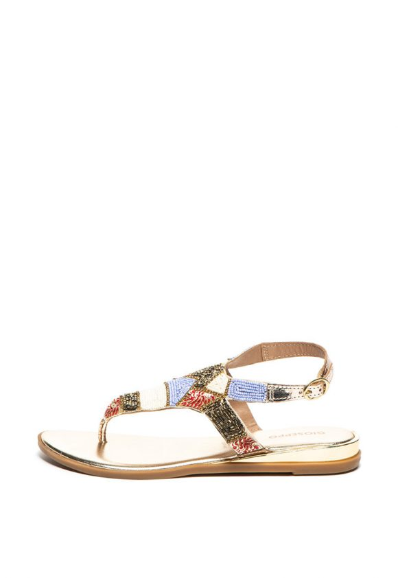 Sandale cu aplicatii de margele Cicala-sandale-Gioseppo