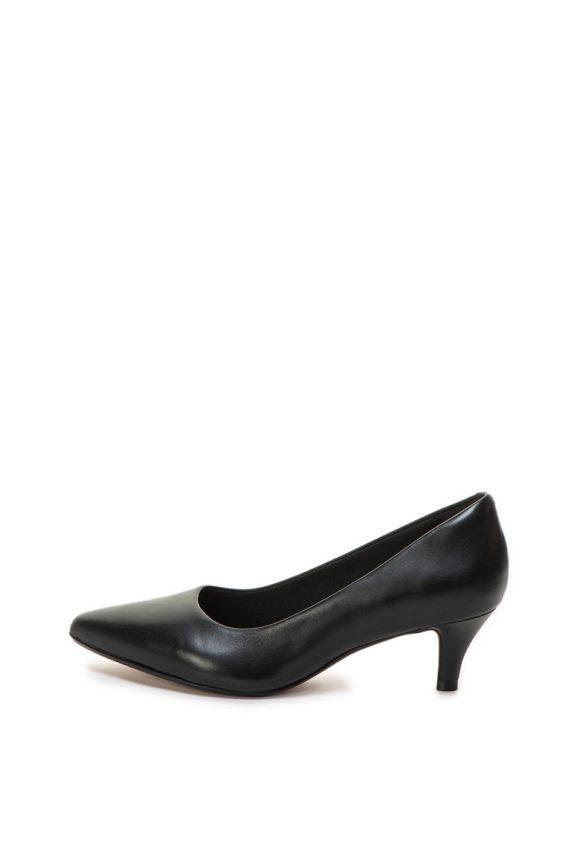 Pantofi de piele cu varf ascutit si toc kitten Linvale Jerica-pantofi clasici-Clarks