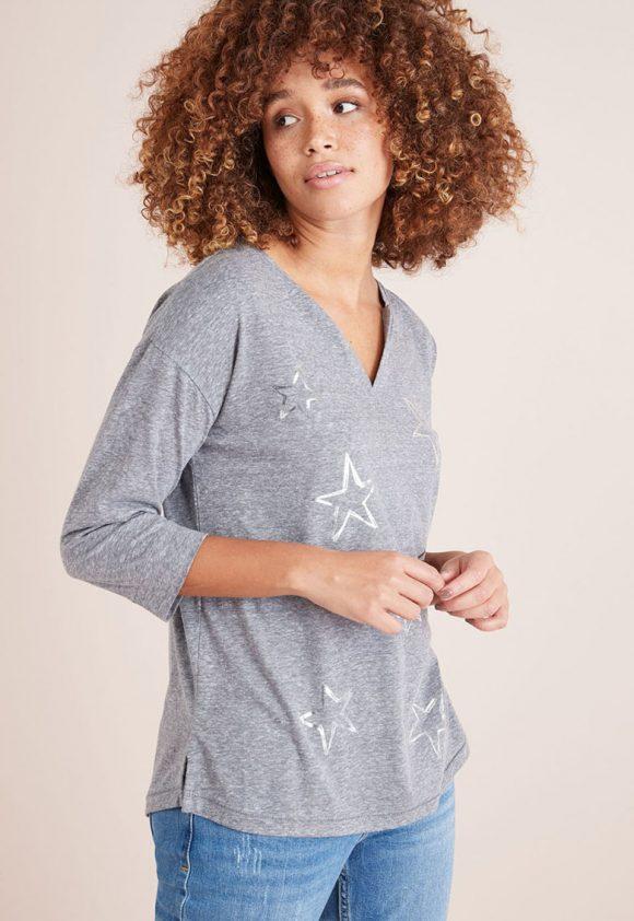 Bluza cu imprimeu grafic-bluze-NEXT