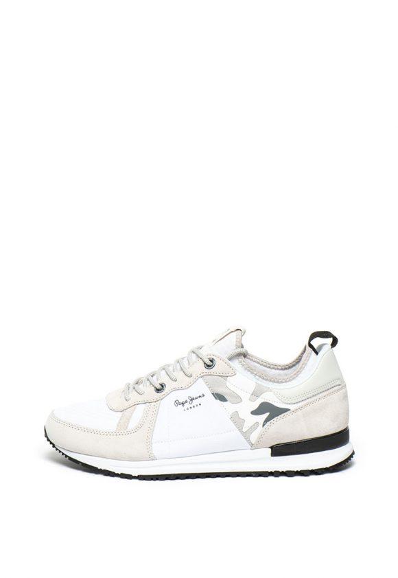 Pantofi sport slip-on cu garnituri de piele intoarsa Tinker Pro 73-tenisi-Pepe Jeans London