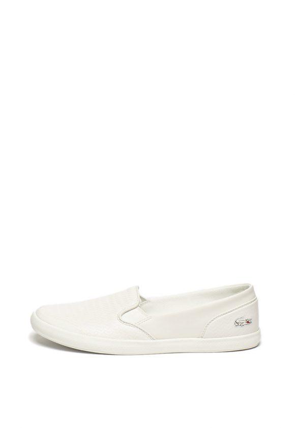 Pantofi slip on de piele si piele ecologica cu Ortholite ® Lancelle-tenisi-Lacoste