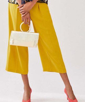 Pantaloni culotte cu pliuri pe partea din fata-pantaloni si colanti-NEXT