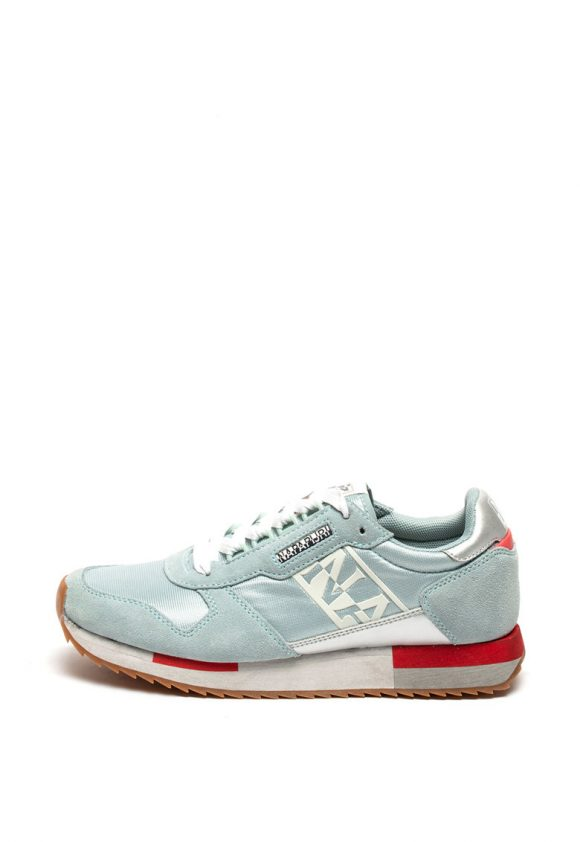 Pantofi sport cu insertii de piele intoarsa si piele Vicky-tenisi-Napapijri