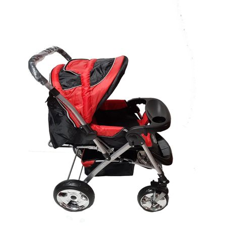 Carucior Landou si Sport cu Maner Reversibil Rosu-Supermarketul Copiilor
