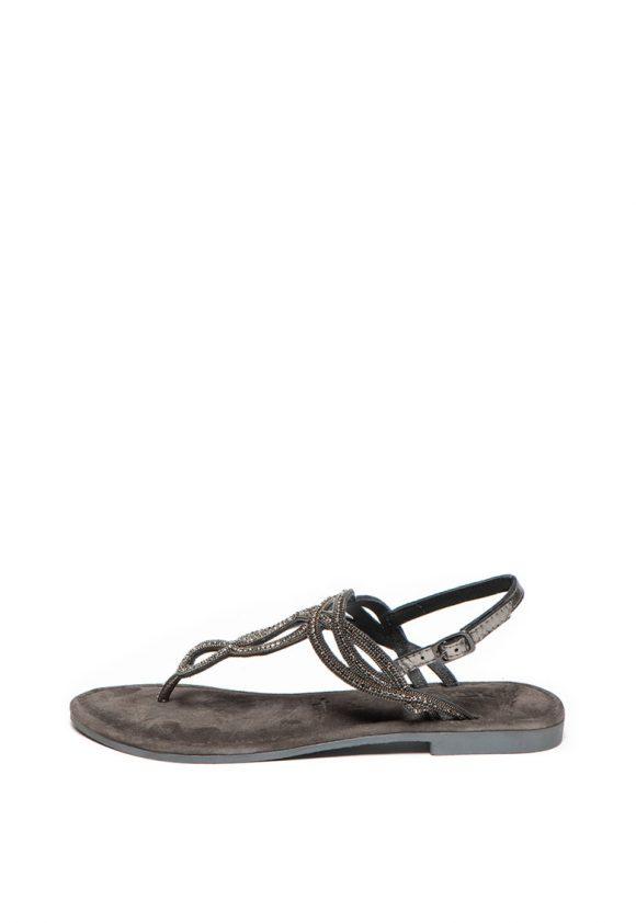 Sandale de piele decorate cu strasuri-sandale-Tamaris