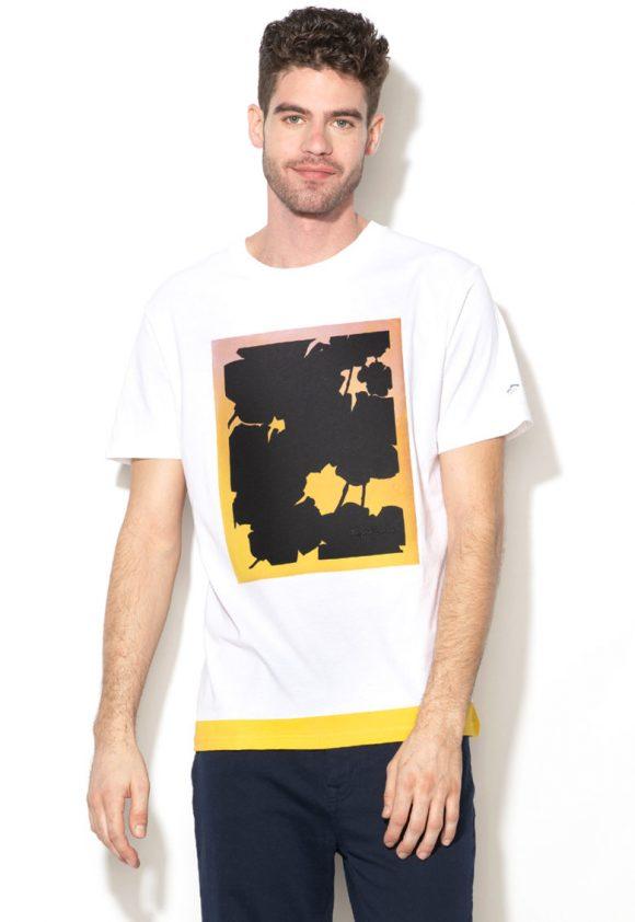 Tricou lejer cu imprimeu grafic Doyle-tricouri-Pepe Jeans London