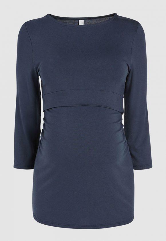 Bluza cu decolteu rotund pentru gravide-bluze-NEXT