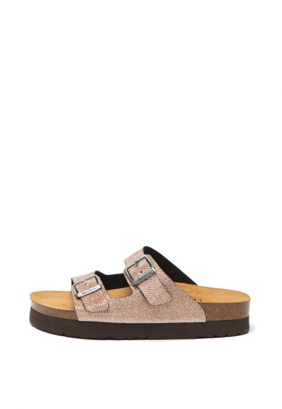 Papuci cu aspect stralucitor si brant anatomic Oban Blim-sandale-Pepe Jeans London