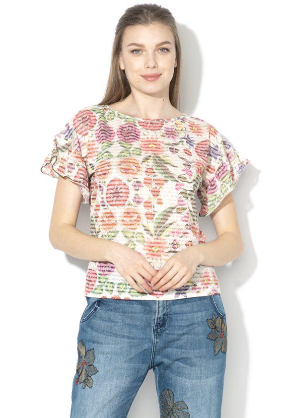 Tricou cu maneci cu volane Karina-tricouri-DESIGUAL