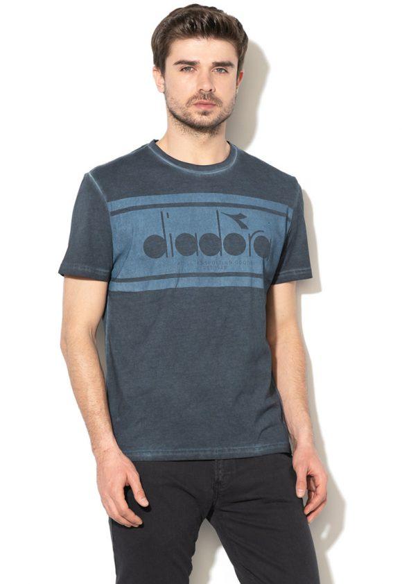 Tricou cu imprimeu si aspect uzat-tricouri-Diadora