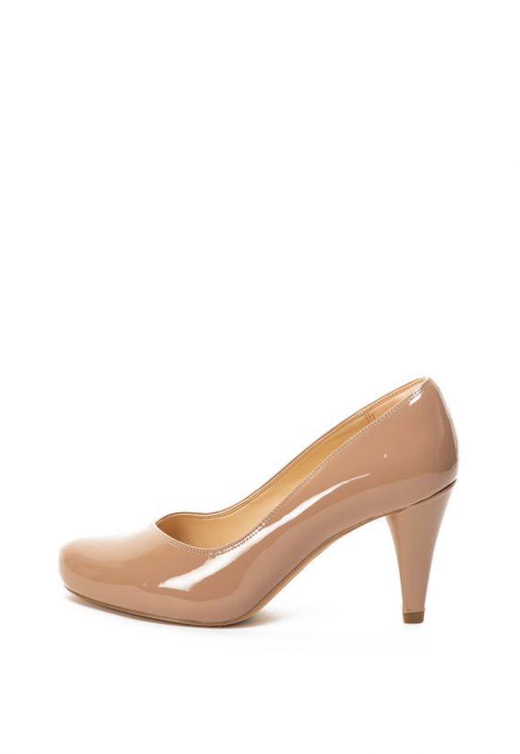 Pantofi de piele lacuita cu toc inalt Dalia Rose-pantofi clasici-Clarks