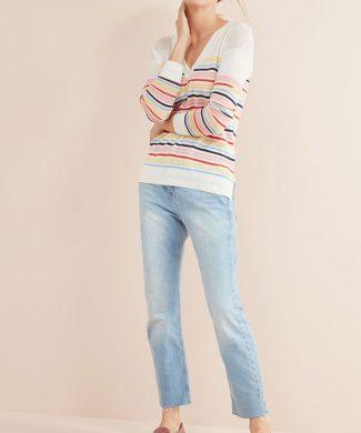 Pulover in dungi din tricot fin-tricotaje-NEXT
