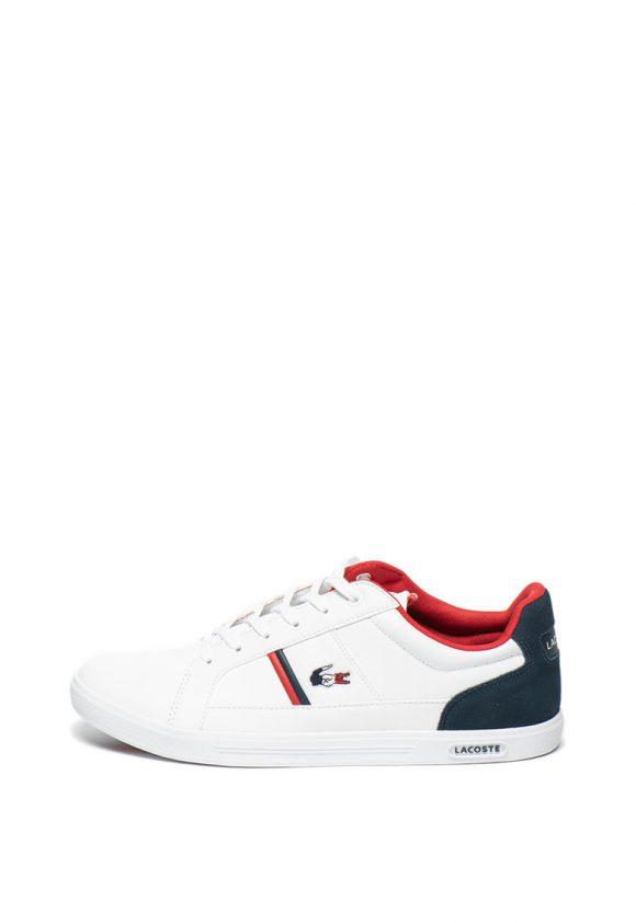 Pantofi sport cu insertii de piele Europa-tenisi-Lacoste