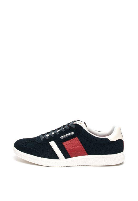 Pantofi sport de piele intoarsa - cu garnituri de piele ecologica Court-tenisi-Napapijri
