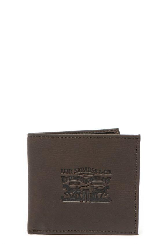Portofel pliabil de piele - cu logo-portofele si brelocuri-Levis