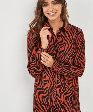 Camasa lunga cu imprimeu zebra-camasi-NEXT