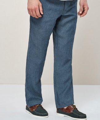 Pantaloni de in - cu snur pentru ajustare-pantaloni-NEXT