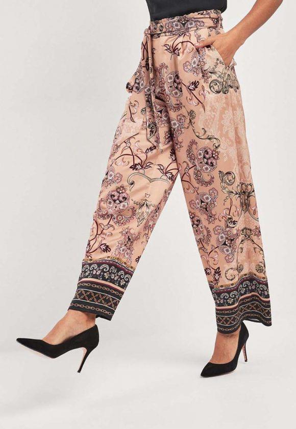 Pantaloni cu croiala ampla si model grafic-pantaloni si colanti-NEXT