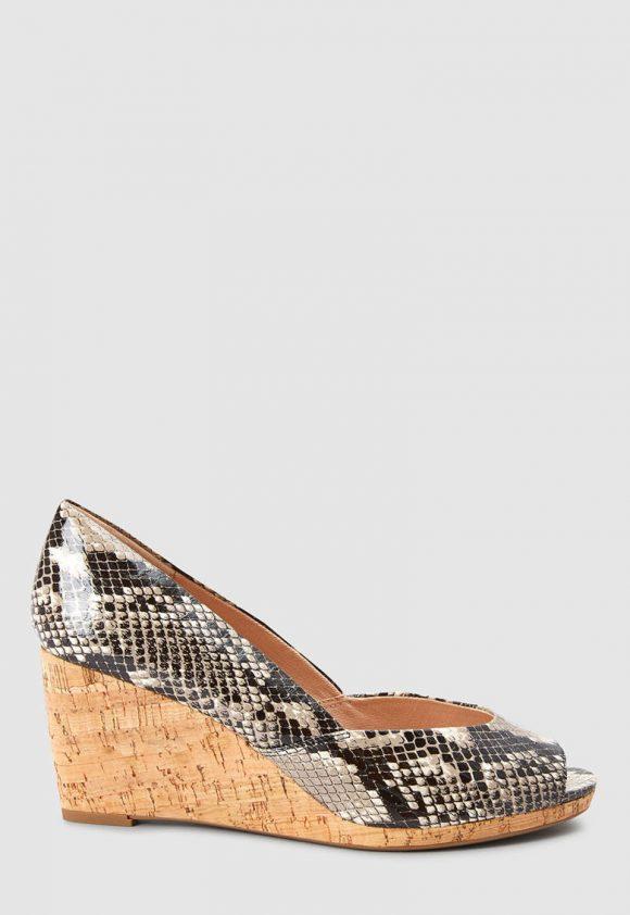 Pantofi wedge cu varf decupat-pantofi clasici-NEXT