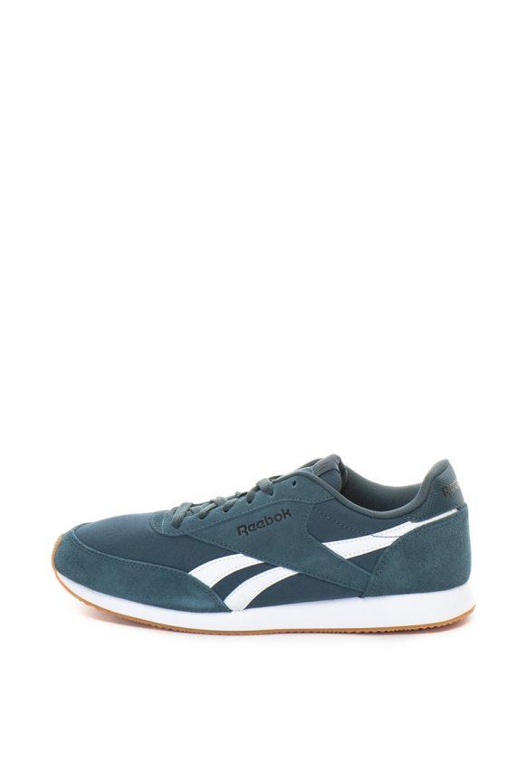 Pantofi sport cu insertii de piele intoarsa Royal CL Jogger 2-tenisi-Reebok Classics