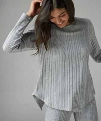 Pulover cu terminati asimetrica-tricotaje-NEXT