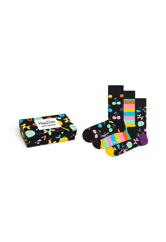 Set de sosete cu imprimeu - 3 perechi-sosete-Happy Socks