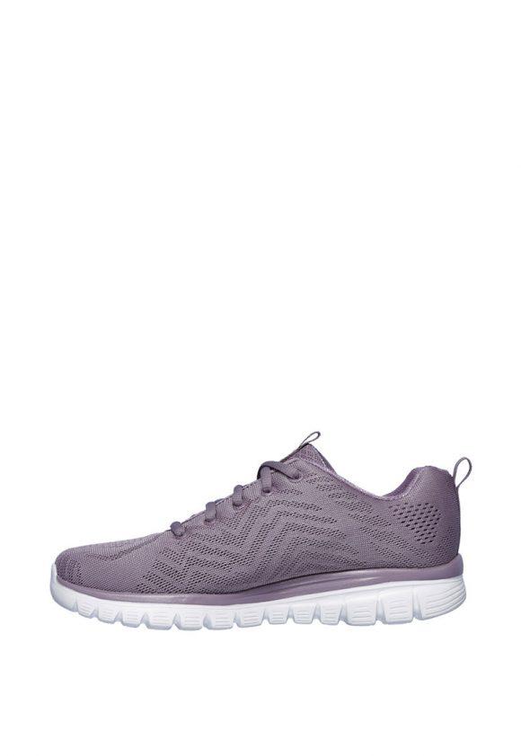 Pantofi sport de plasa cu branturi cu amortizare Graceful-tenisi-Skechers