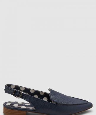 Pantofi loafer slingback de piele ecologica - cu varf ascutit-mocasini-NEXT
