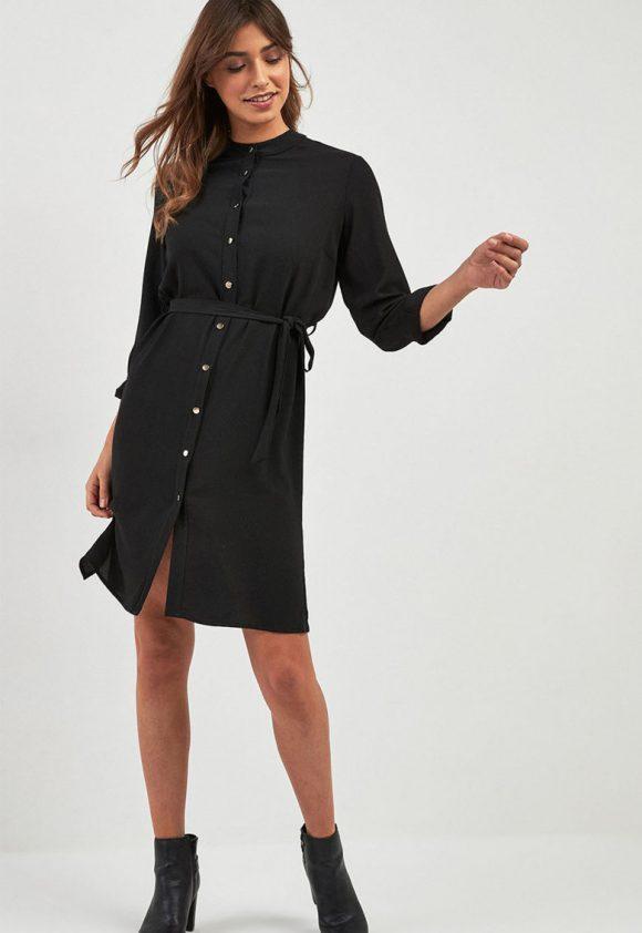 Rochie cu nasturi si cordon-rochii-NEXT