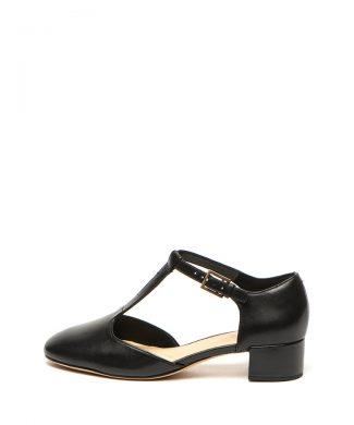 Pantofi de piele cu bareta in T si toc masiv Orabella Holly-pantofi clasici-Clarks