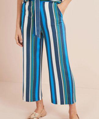 Pantaloni cu croiala ampla si model in dungi-pantaloni si colanti-NEXT
