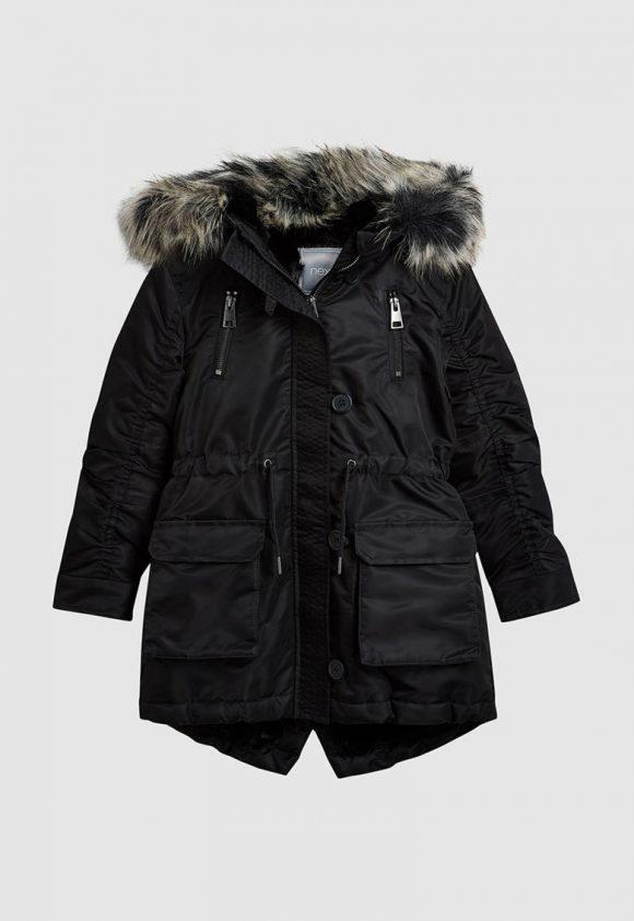 Jacheta parka cu garnitura de blana sintetica-Jachete si paltoane-NEXT