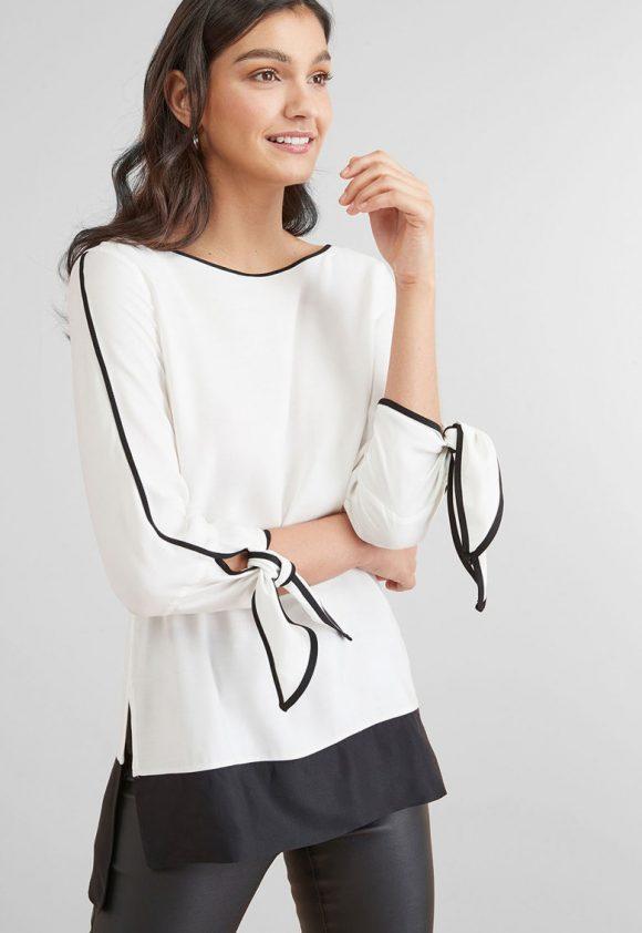 Bluza cu slituri laterale-bluze-NEXT