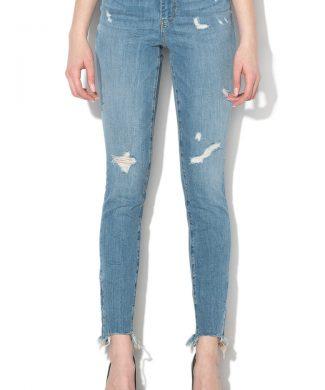 Blugi skinny cu talie inalta 1981-jeansi-GUESS JEANS