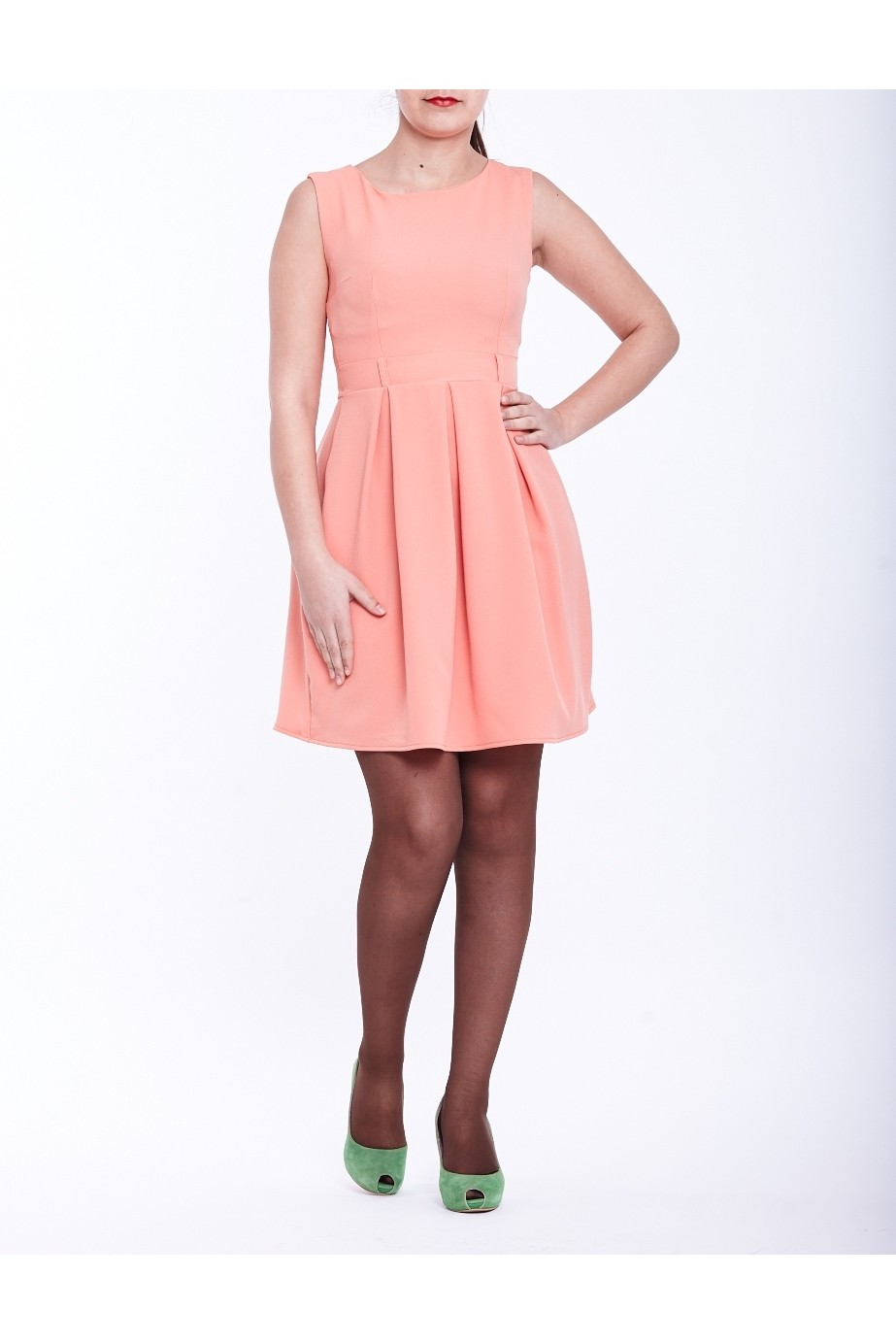 Rochie roz uni cu cute TinaR 36