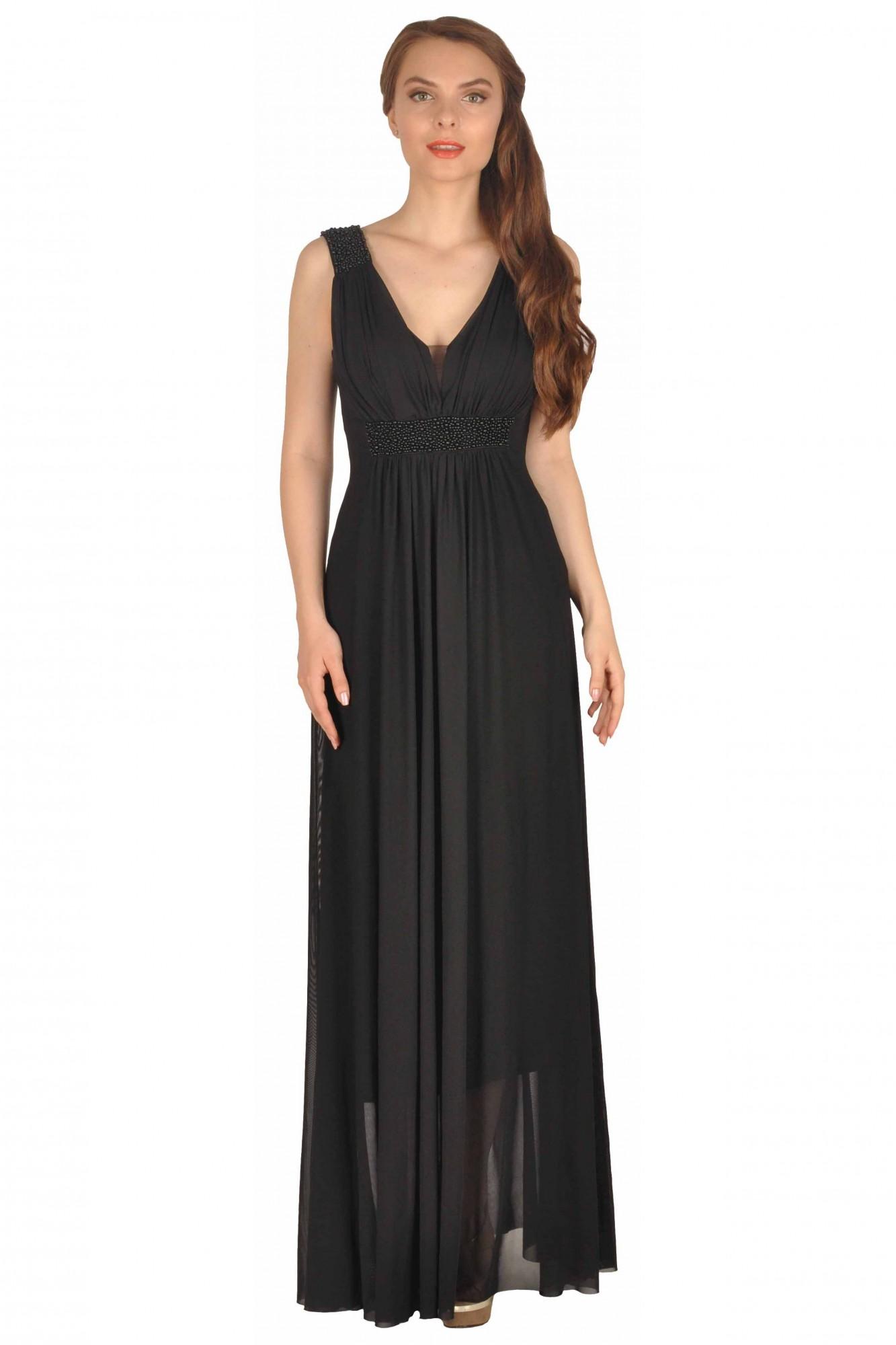 Rochie neagra de ocazie eleganta