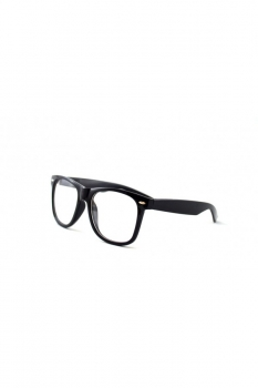 Rame - Ochelari cu lentile transparente Wayfarer - Negru