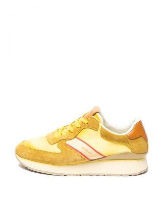 Pantofi sport cu garnituri de piele intoarsa Linda-tenisi-Gant