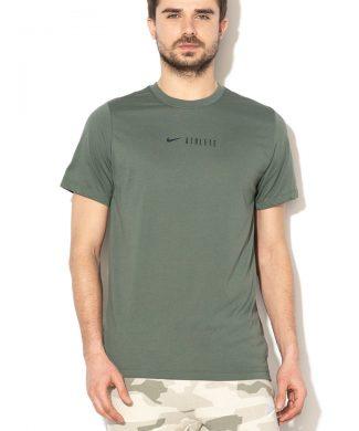 Tricou cu imprimeu logo si Dri-Fit - pentru fitness-tricouri-Nike