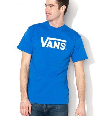 tricou cu decolteu la baza gatului si logo Classic-tricouri-Vans